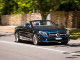 Photos of Mercedes-Benz S 500 Cabriolet AU-spec (A217) 2016