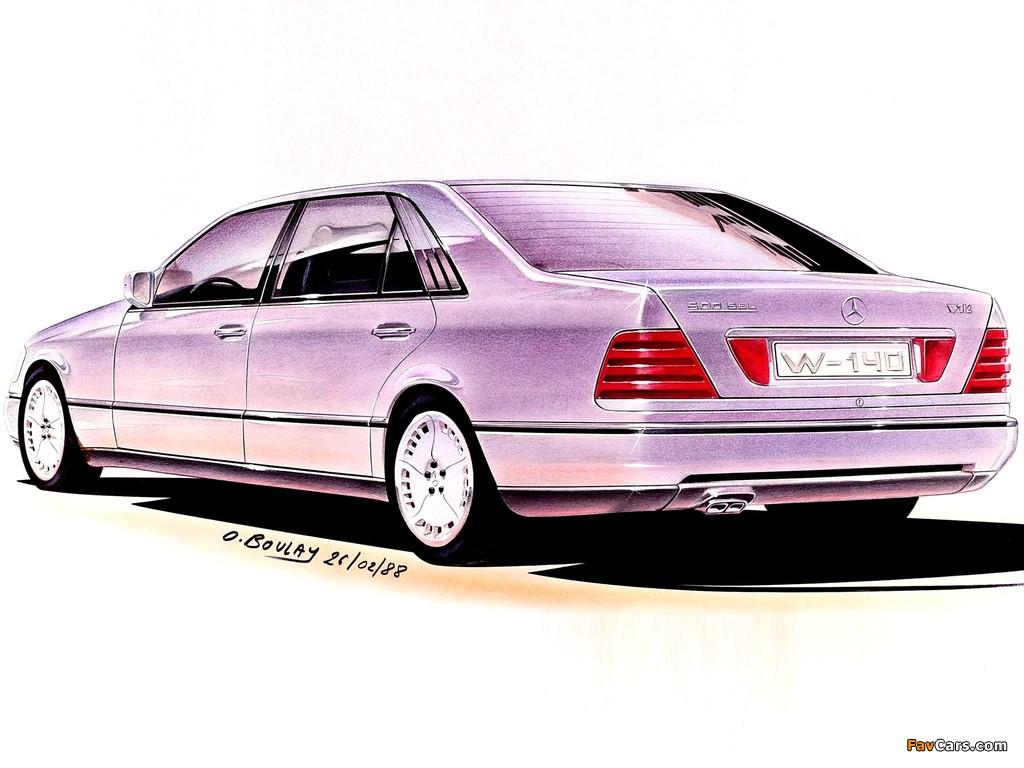 Photos of Mercedes-Benz S-Klasse, 1988 (1024 x 768)