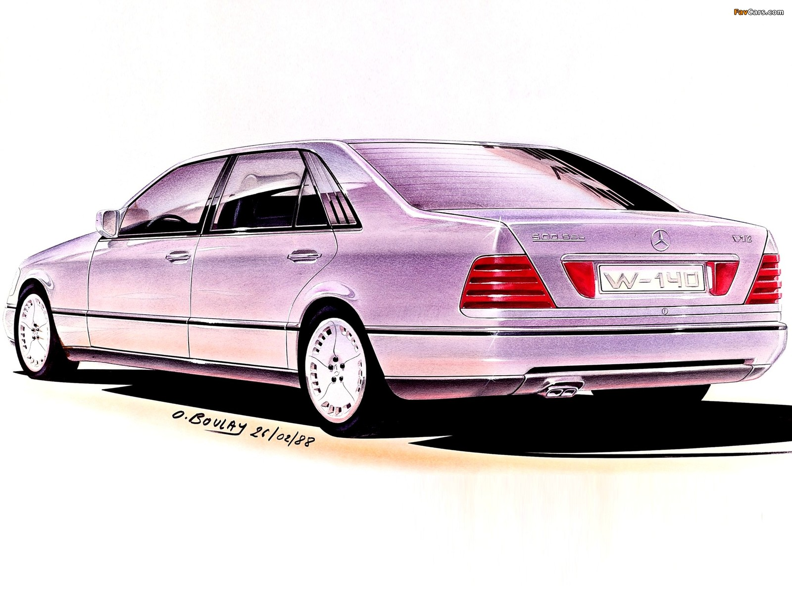 Photos of Mercedes-Benz S-Klasse, 1988 (1600 x 1200)