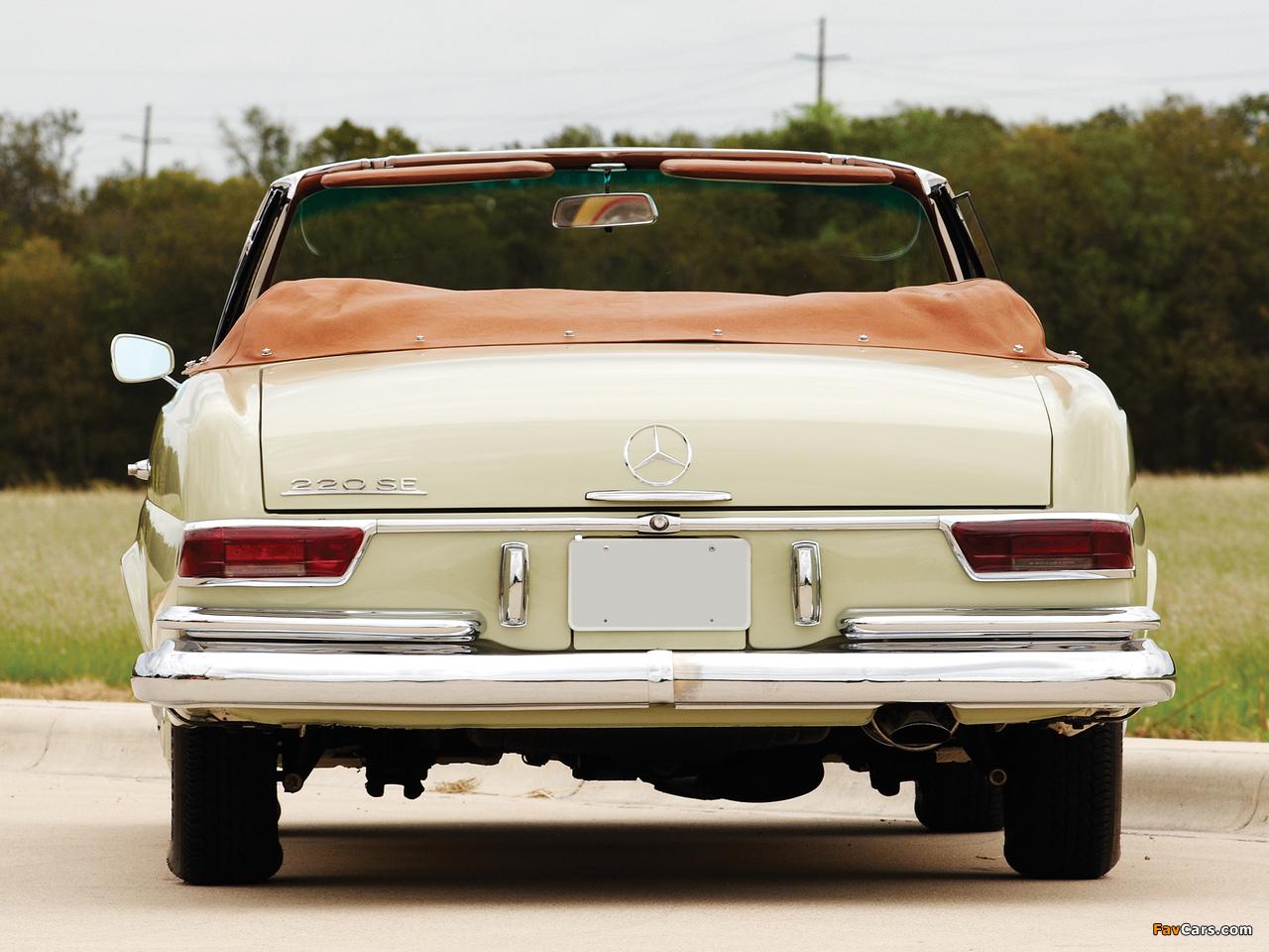 Pictures of Mercedes-Benz 220 SE Cabriolet US-spec (W111) 1961–65 (1280 x 960)