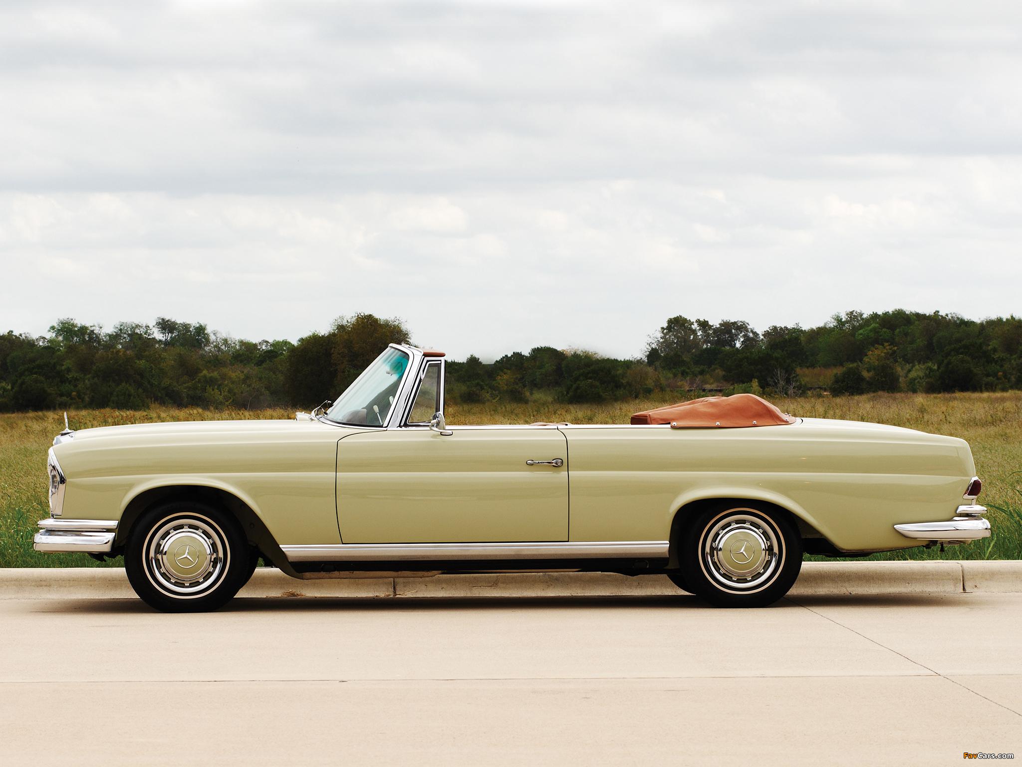 Mercedes-Benz 220 SE Cabriolet US-spec (W111) 1961–65 wallpapers (2048 x 1536)