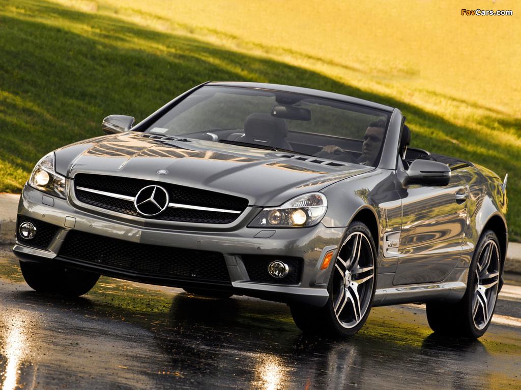 Mercedes-Benz SL 63 AMG US-spec (R230) 2008–11 wallpapers (1024 x 768)