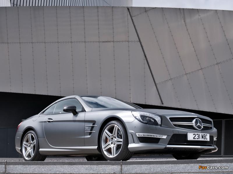 Mercedes-Benz SL 63 AMG UK-spec (R231) 2012 pictures (800 x 600)