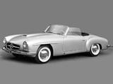 Photos of Mercedes-Benz 190-SL Prototype (W121 BII) 1954