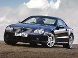 Photos of Mercedes-Benz SL 55 AMG UK-spec (R230) 2001–08