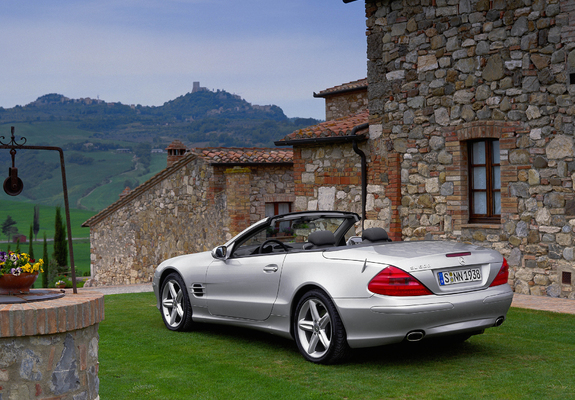 mercedes benz sl 500 r230 2001 05 wallpapers. Black Bedroom Furniture Sets. Home Design Ideas