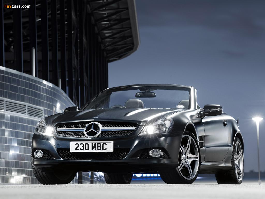 Mercedes-Benz SL 350 Night Edition UK-spec (R230) 2010–11 wallpapers (1024 x 768)