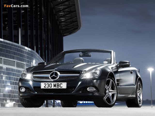 Mercedes-Benz SL 350 Night Edition UK-spec (R230) 2010–11 wallpapers (640 x 480)