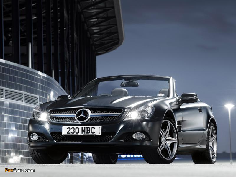 Mercedes-Benz SL 350 Night Edition UK-spec (R230) 2010–11 wallpapers (800 x 600)