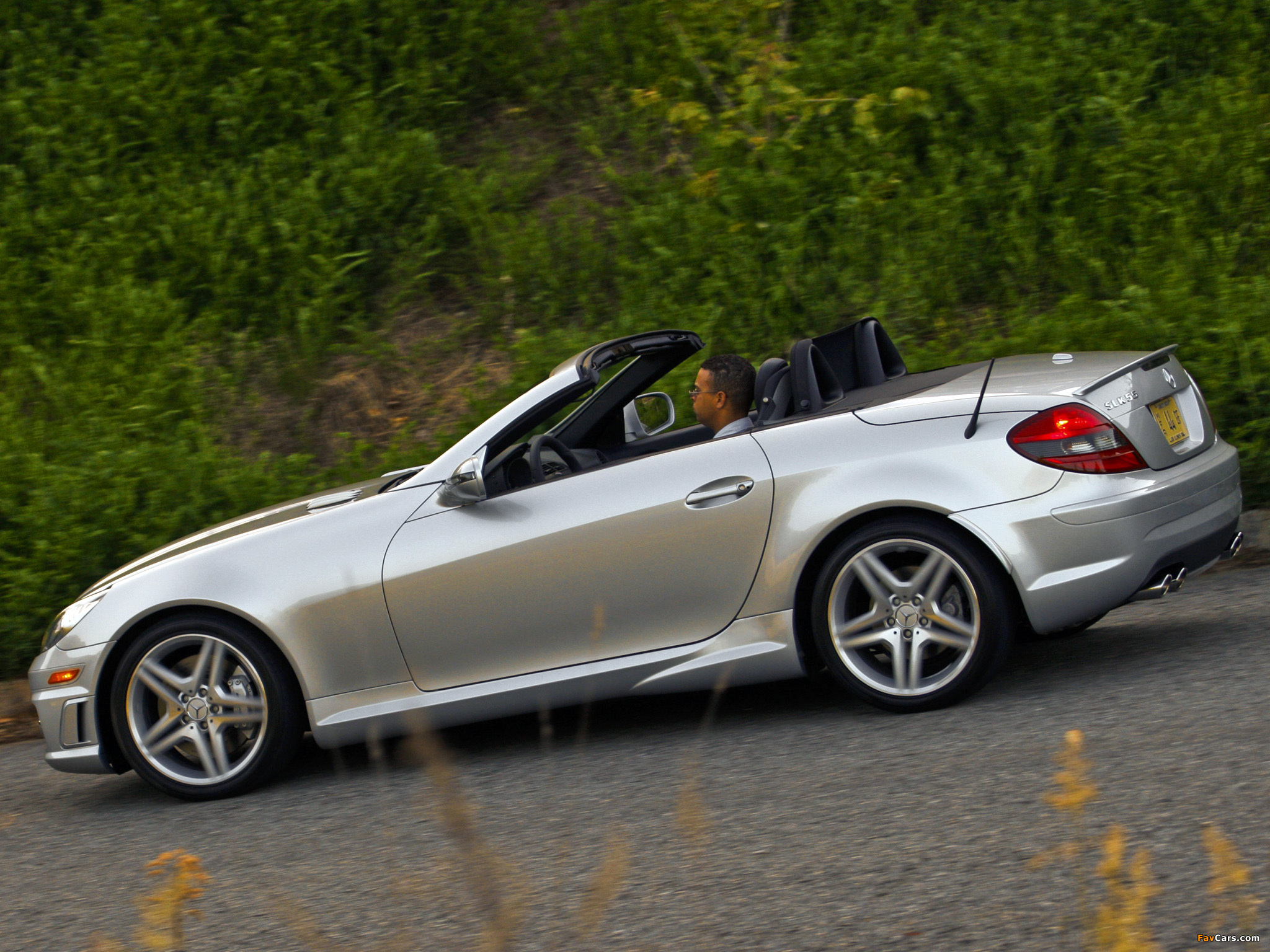 Mercedes-Benz SLK 55 AMG US-spec (R171) 2008–11 images (2048 x 1536)