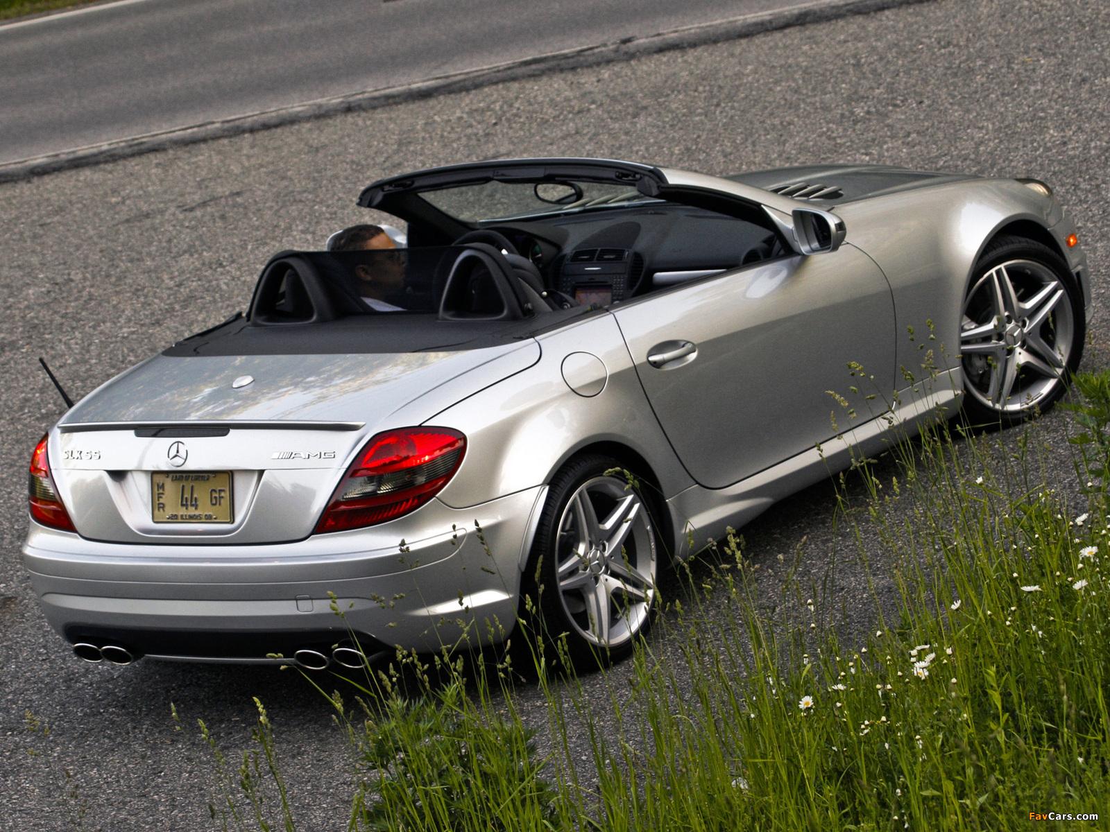 Mercedes-Benz SLK 55 AMG US-spec (R171) 2008–11 photos (1600 x 1200)
