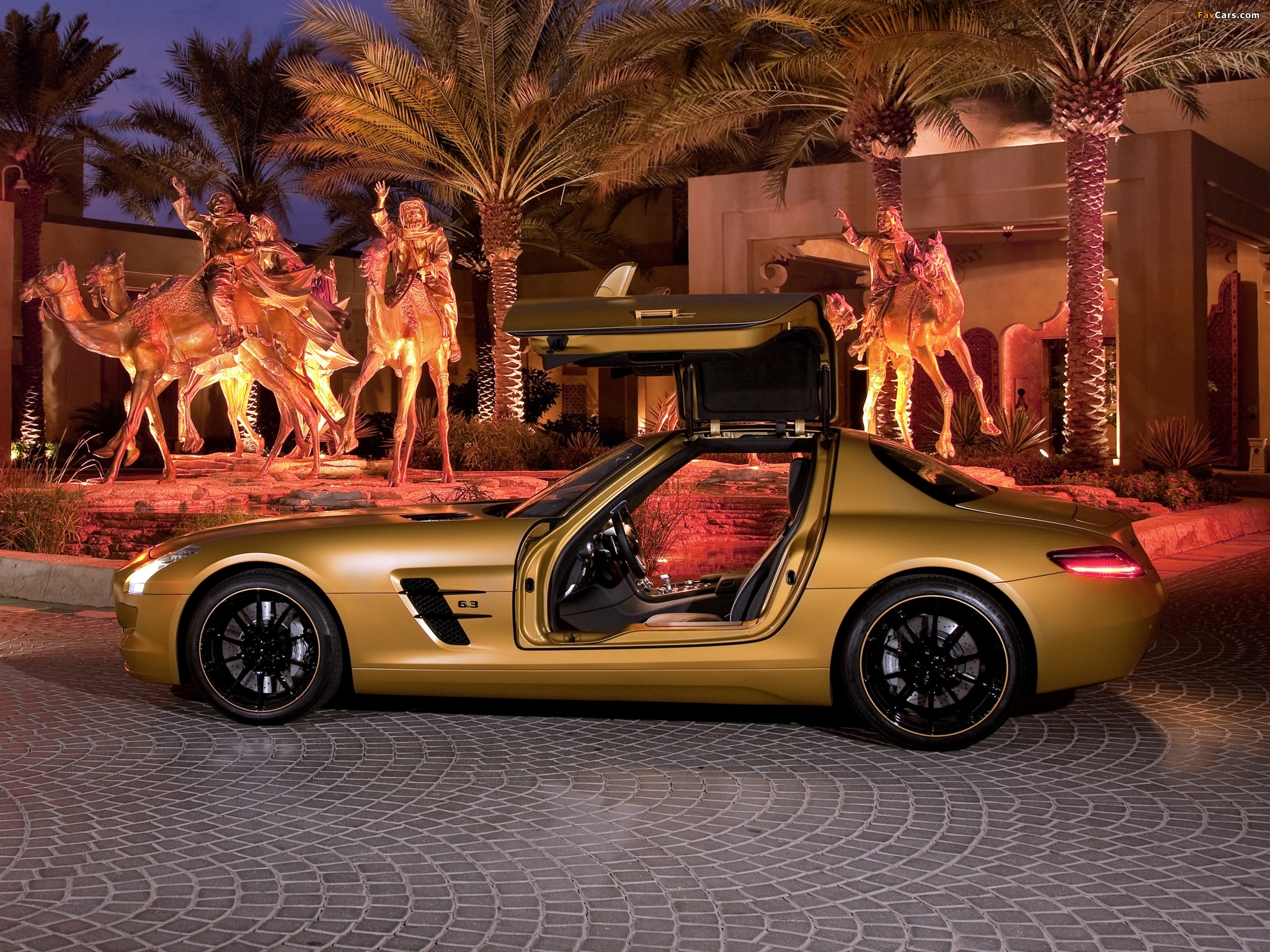 Mercedes-Benz SLS 63 AMG Desert Gold (C197) 2010 pictures (2048 x 1536)