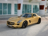 Photos of Mercedes-Benz SLS 63 AMG Desert Gold (C197) 2010