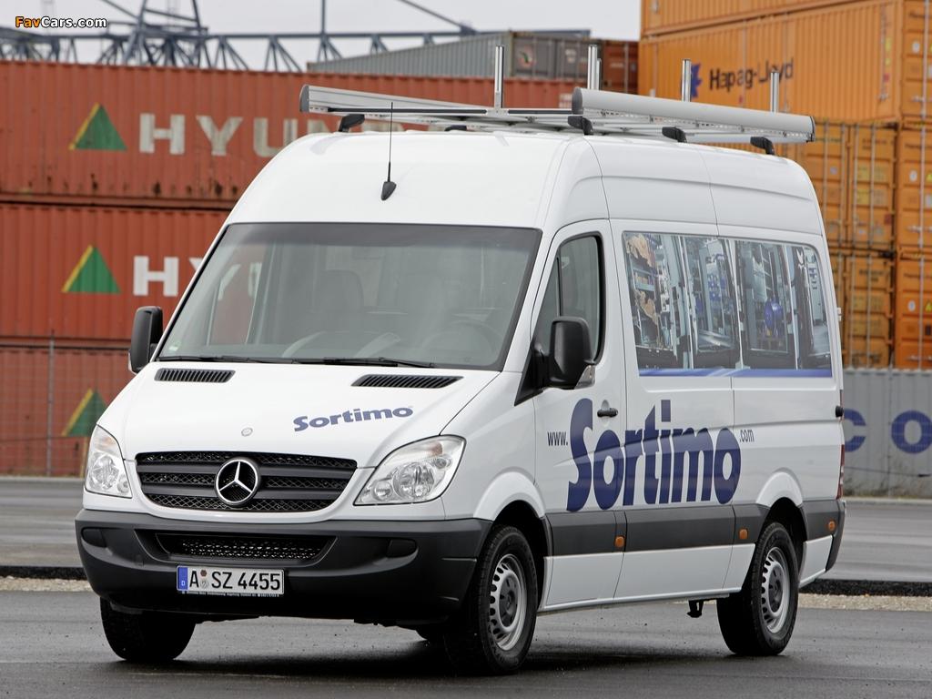 Mercedes-Benz Sprinter High Roof Van (W906) 2006–13 images (1024 x 768)
