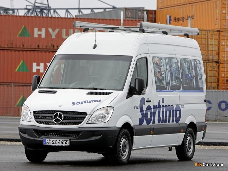Mercedes-Benz Sprinter High Roof Van (W906) 2006–13 images (800 x 600)