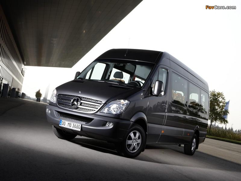 Mercedes-Benz Sprinter Transfer 34 (W906) 2006–13 wallpapers (800 x 600)