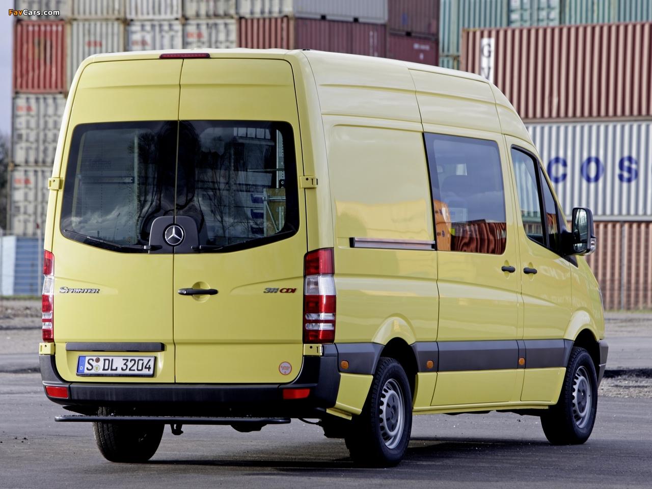 Mercedes-Benz Sprinter High Roof Van (W906) 2006–13 wallpapers (1280 x 960)