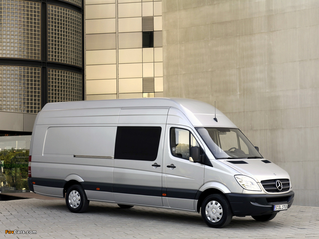 Mercedes-Benz Sprinter Van XL (W906) 2006–13 wallpapers (1024 x 768)