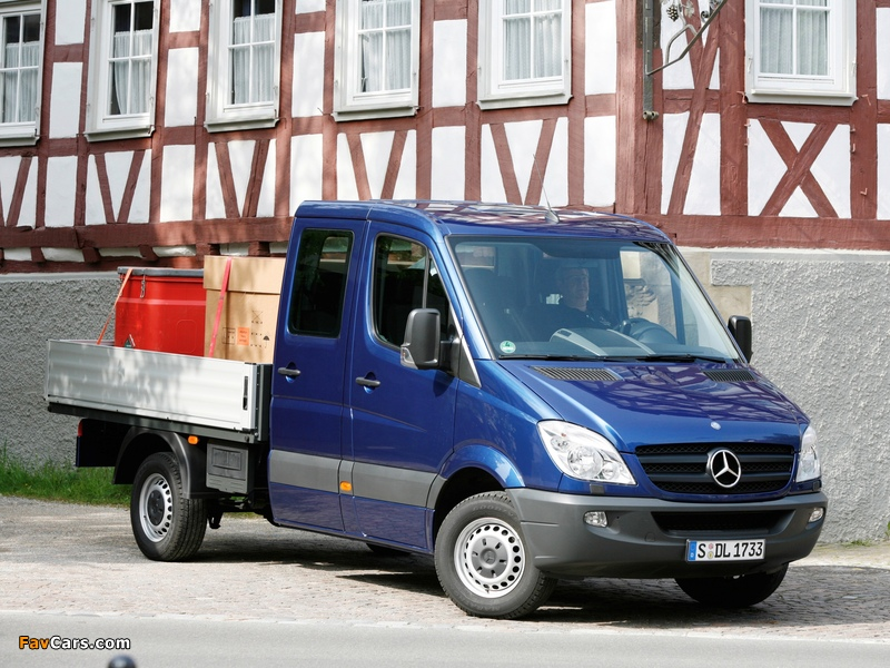 Mercedes-Benz Sprinter Double Cab Dropside (W906) 2006–13 wallpapers (800 x 600)