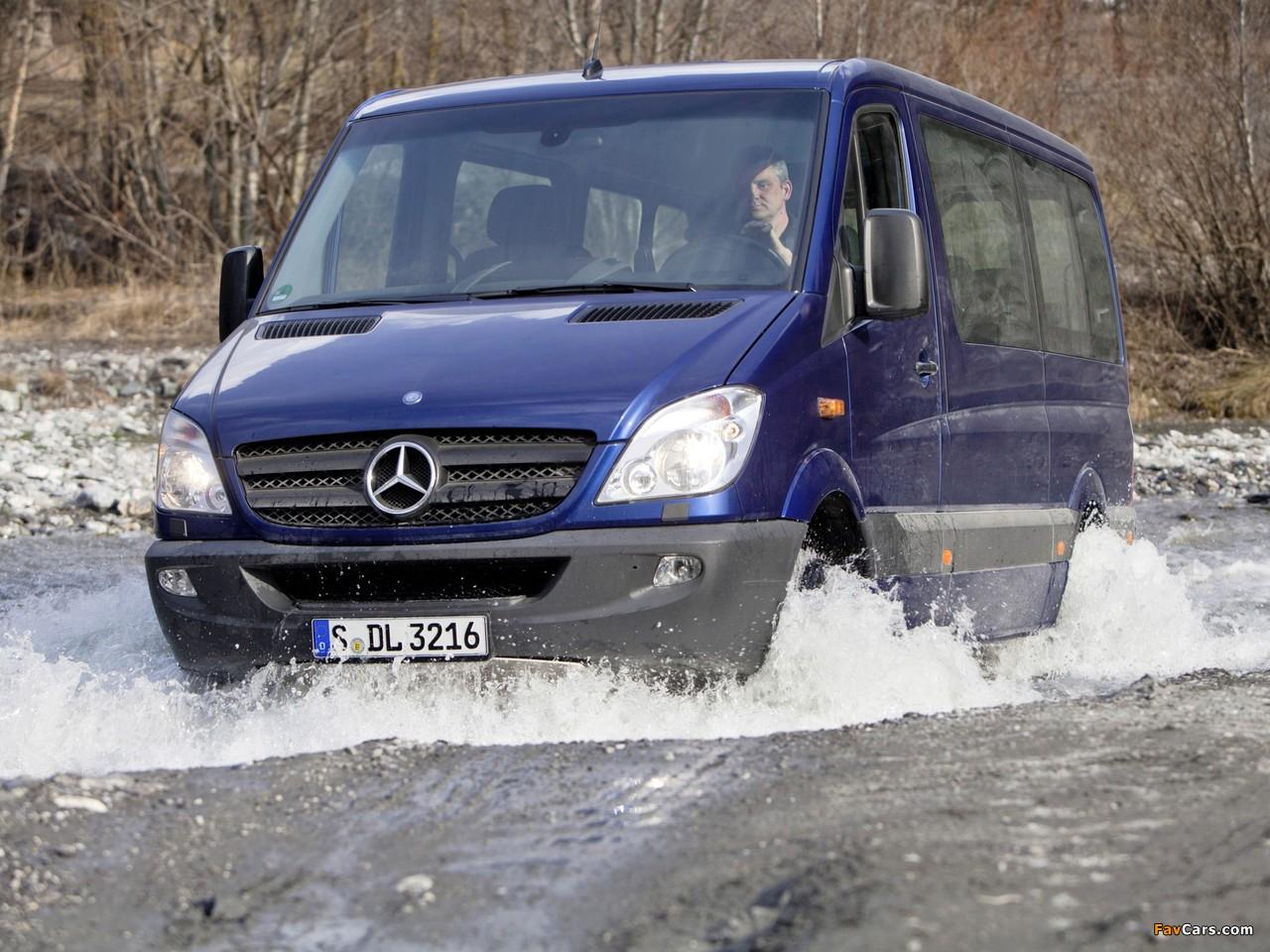 Mercedes-Benz Sprinter 4x4 (W906) 2009–13 wallpapers (1280 x 960)