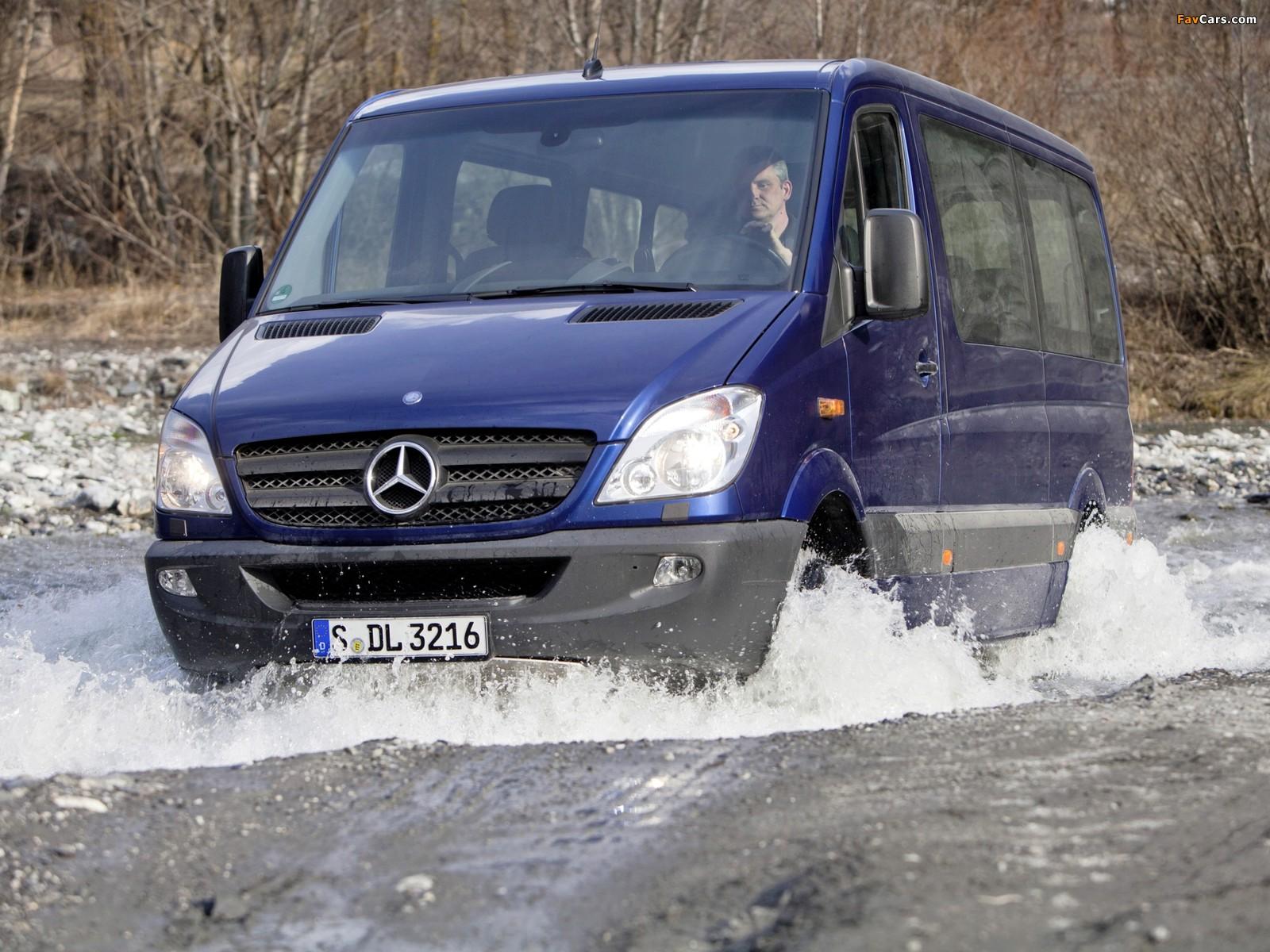 Mercedes-Benz Sprinter 4x4 (W906) 2009–13 wallpapers (1600 x 1200)
