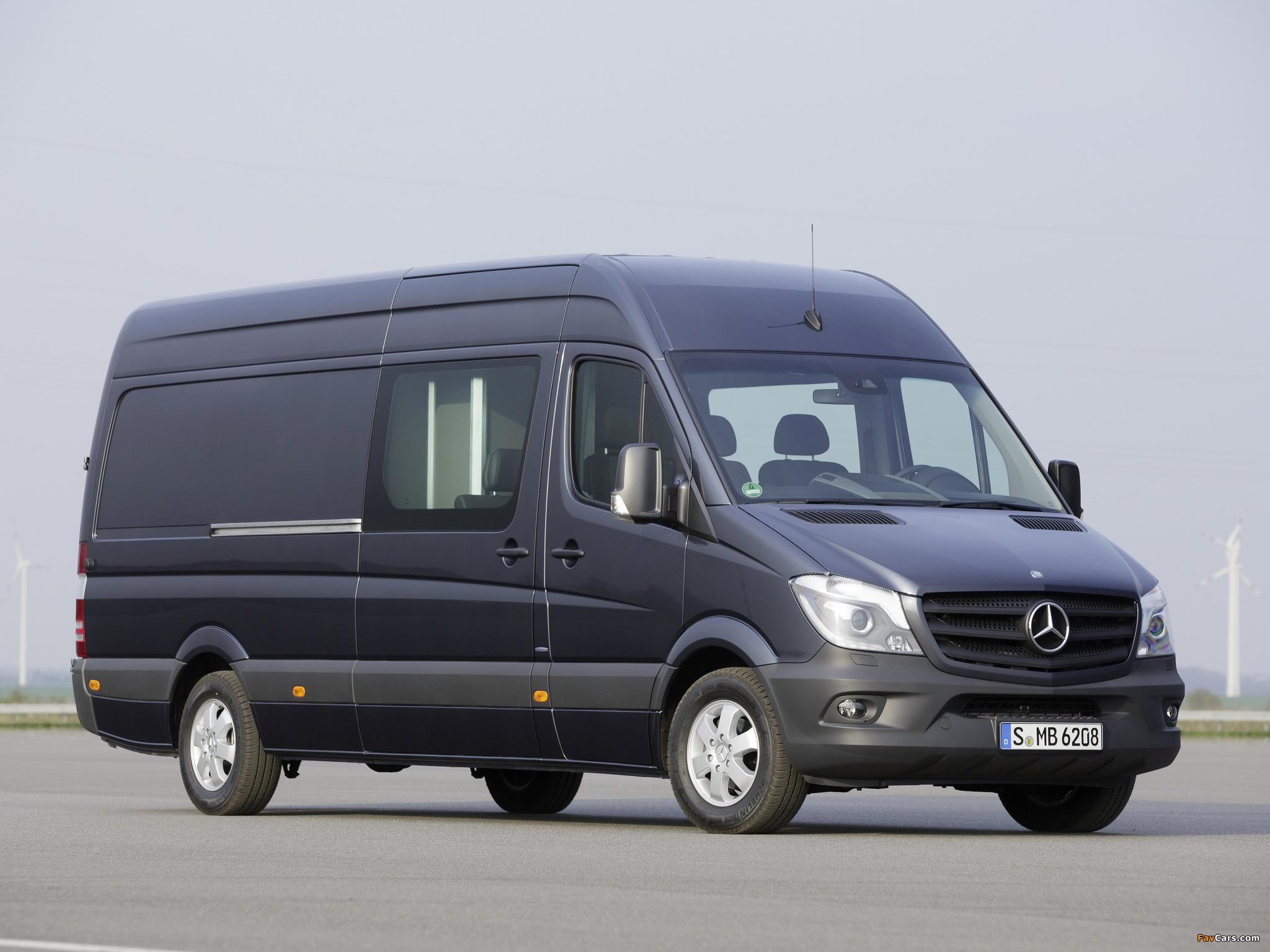 Mercedes-Benz Sprinter LWB High Roof Van (W906) 2013 images (2048 x 1536)
