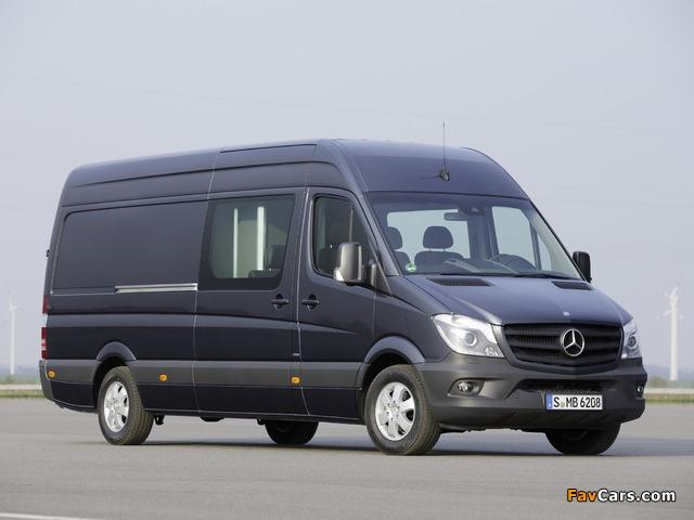 Mercedes-Benz Sprinter LWB High Roof Van (W906) 2013 images (640 x 480)