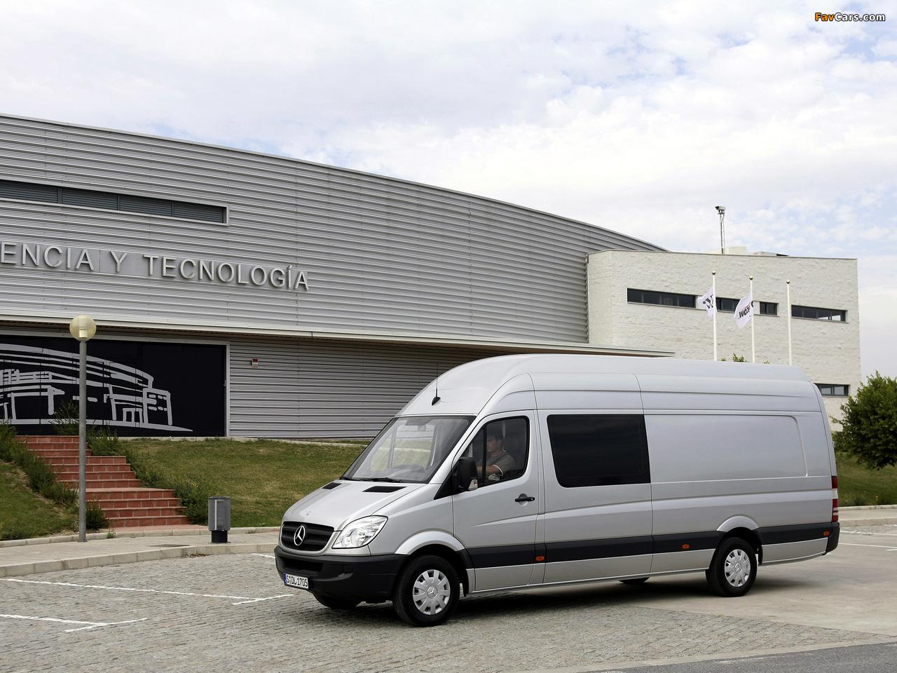 Mercedes-Benz Sprinter Van XL (W906) 2006–13 wallpapers (1280 x 960)