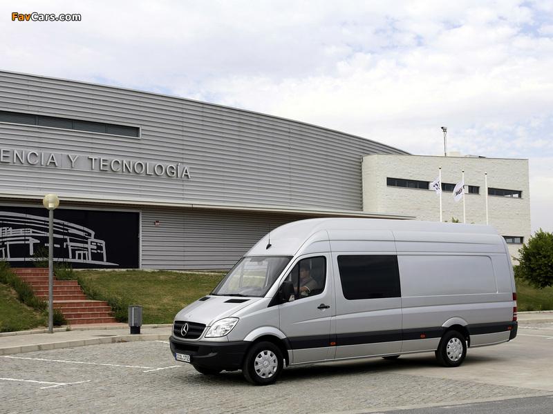 Mercedes-Benz Sprinter Van XL (W906) 2006–13 wallpapers (800 x 600)