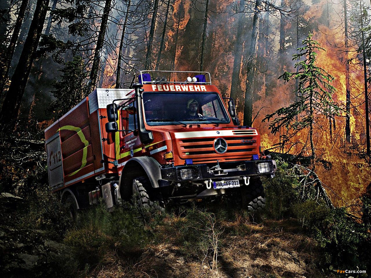 Mercedes-Benz Unimog U5000 Feuerwehr 2000–13 Wallpapers