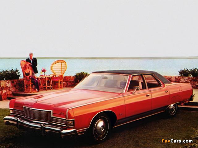Mercury Marquis Brougham 4-door Pillared Hardtop 1973–78 images (640 x 480)