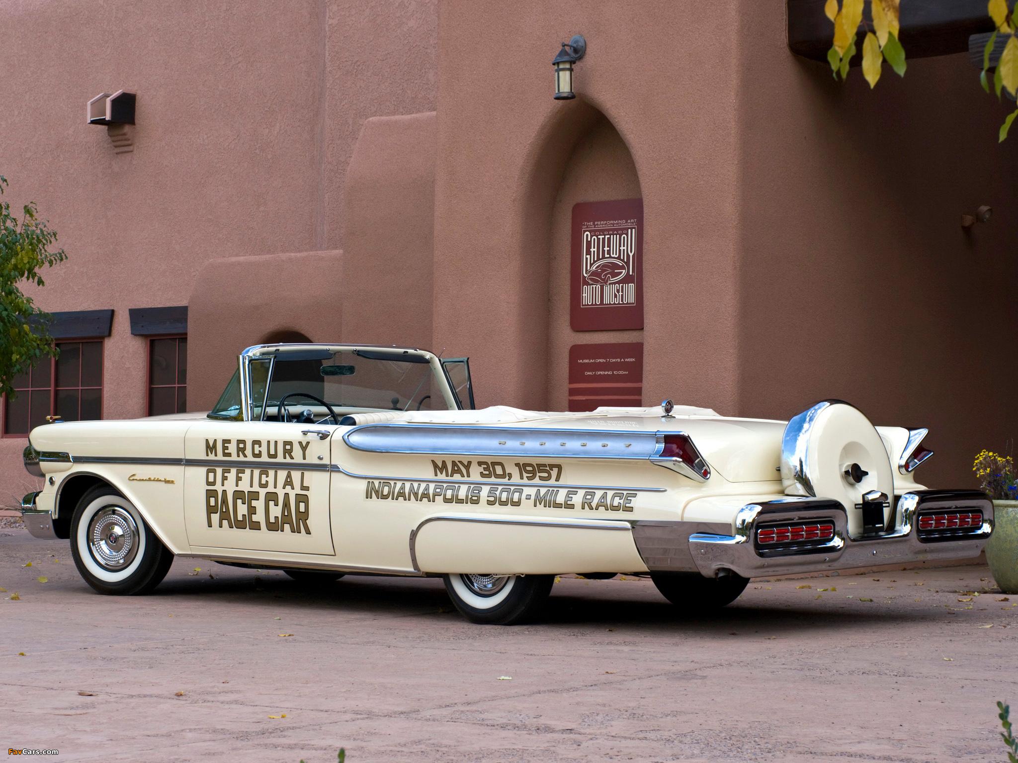 1957 mercury turnpike cruiser pace car convertible - Mercury Turnpike Cruiser Convertible Indy 500 Pace Car 76s 1957 Wallpapers 2048 X