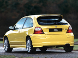MG ZR 160 3-door EU-spec 2001–04 pictures