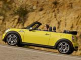 Images of Mini Cooper S Cabrio US-spec (R57) 2009–10