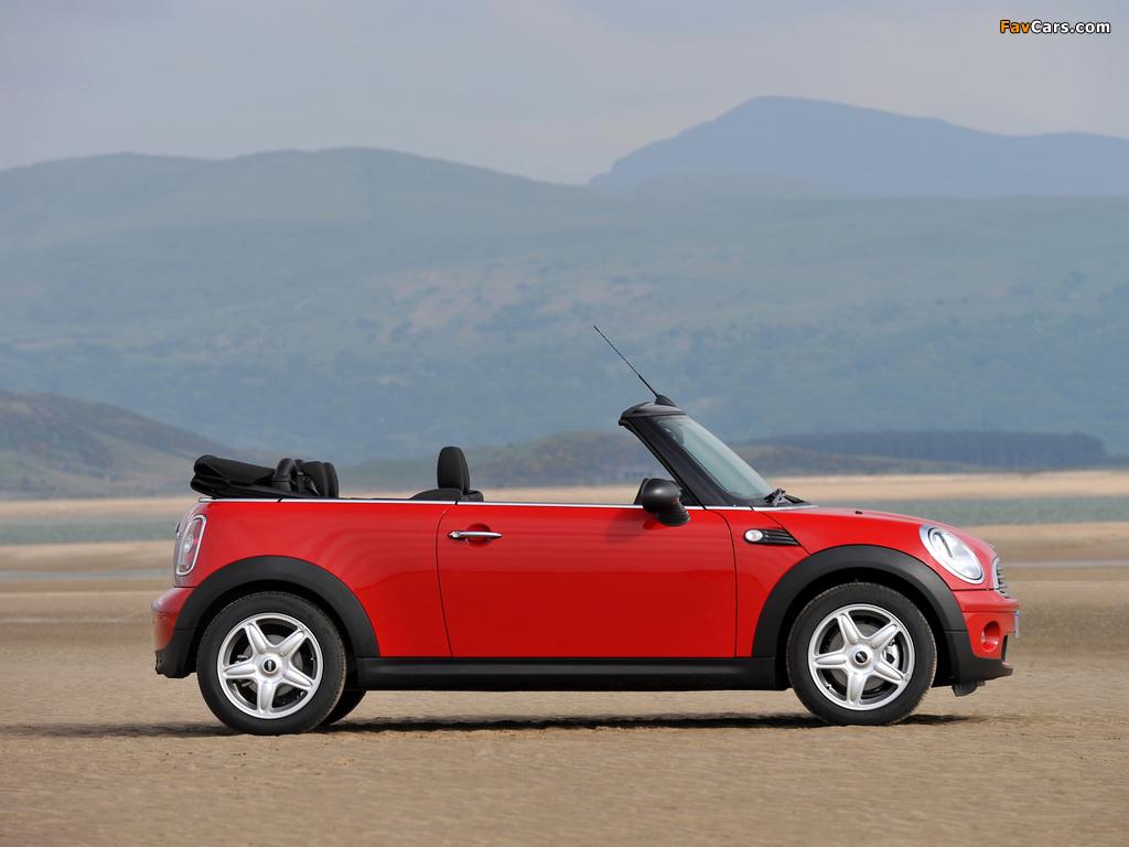 Mini One Cabrio UK-spec (R57) 2009–10 wallpapers (1024 x 768)