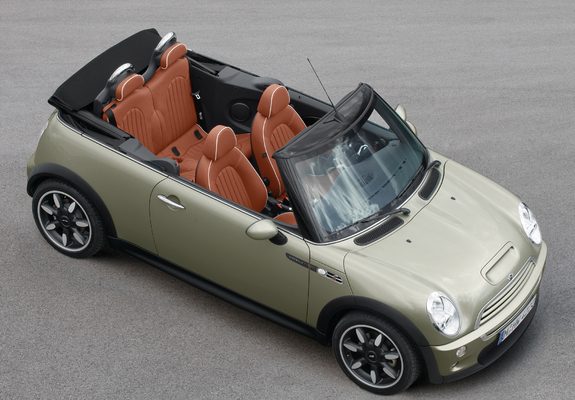 mini cooper s cabrio sidewalk r52 2007 wallpapers. Black Bedroom Furniture Sets. Home Design Ideas