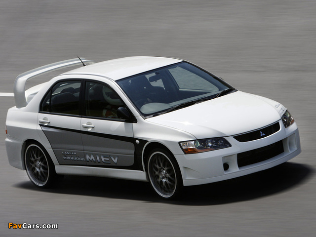 Mitsubishi Lancer Evolution MIEV Concept 2005 photos (640 x 480)
