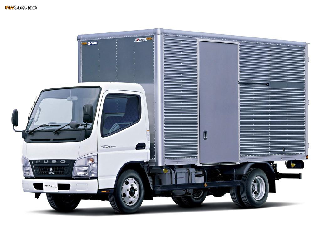 Mitsubishi Fuso Canter Eco Hybrid JP-spec (FE7) 2006–10 wallpapers (1024 x 768)