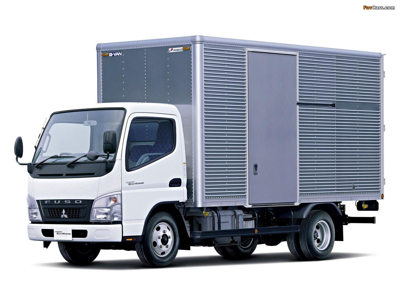 Mitsubishi Fuso Canter Eco Hybrid JP-spec (FE7) 2006–10 wallpapers (1280 x 960)
