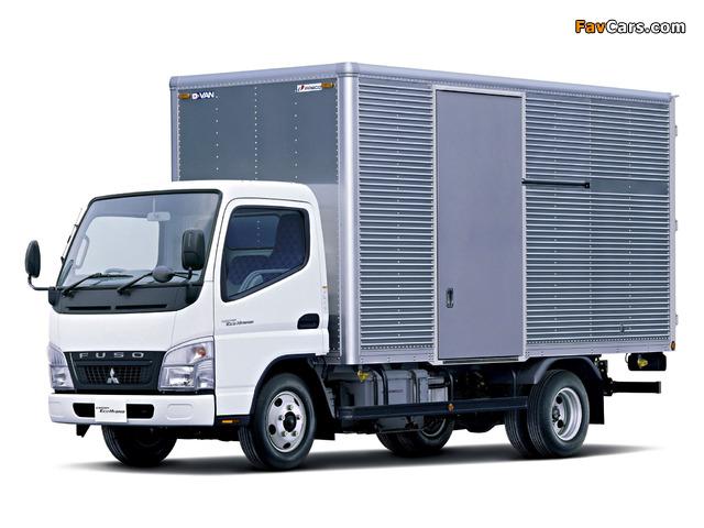 Mitsubishi Fuso Canter Eco Hybrid JP-spec (FE7) 2006–10 wallpapers (640 x 480)