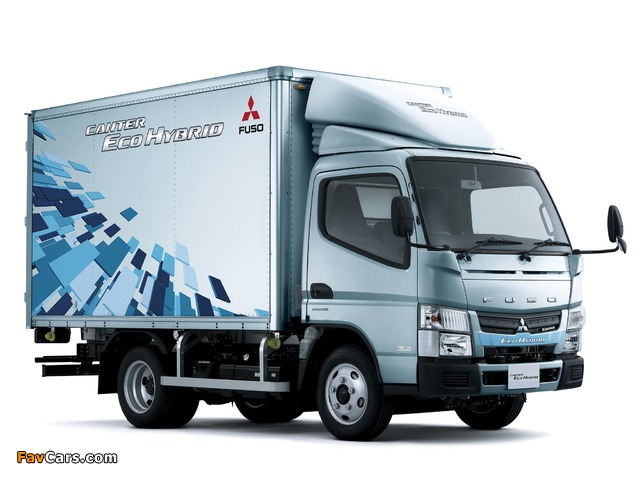 Pictures of Mitsubishi Fuso Canter Eco Hybrid (FE7) 2010–12 (640 x 480)