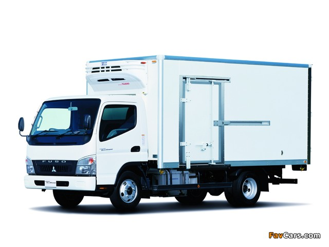 Mitsubishi Fuso Canter Eco Hybrid JP-spec (FE7) 2006–10 wallpapers (640 x 480)