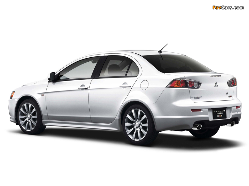 Mitsubishi Galant Fortis Ralliart 2008 wallpapers (800 x 600)