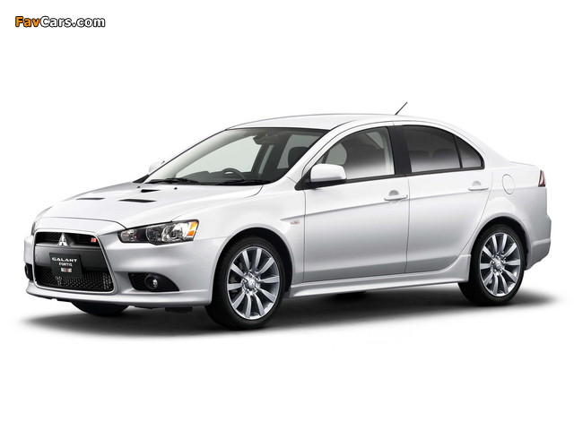 Mitsubishi Galant Fortis Ralliart 2008 wallpapers (640 x 480)