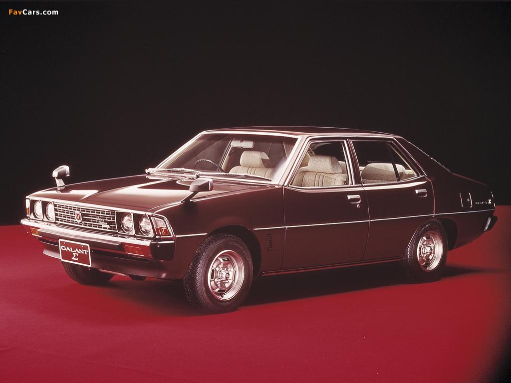 Mitsubishi Galant Sigma (III) 1976–78 wallpapers (1024 x 768)