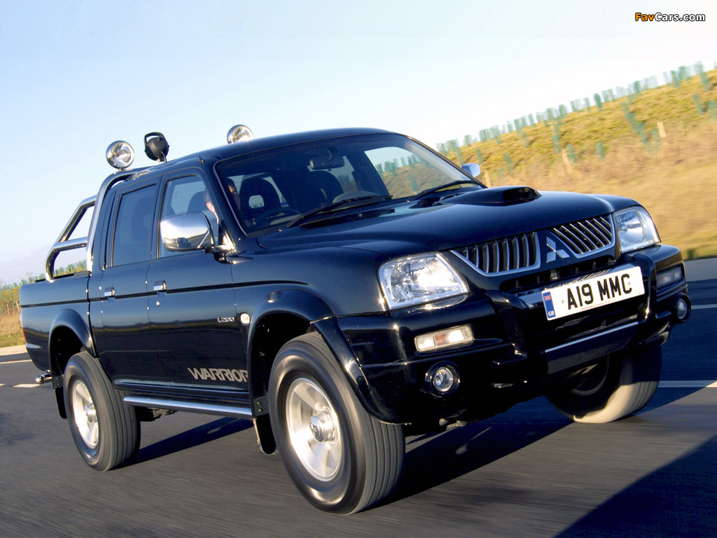 Images of Mitsubishi L200 Double Cab Warrior 2005–06 (1024 x 768)