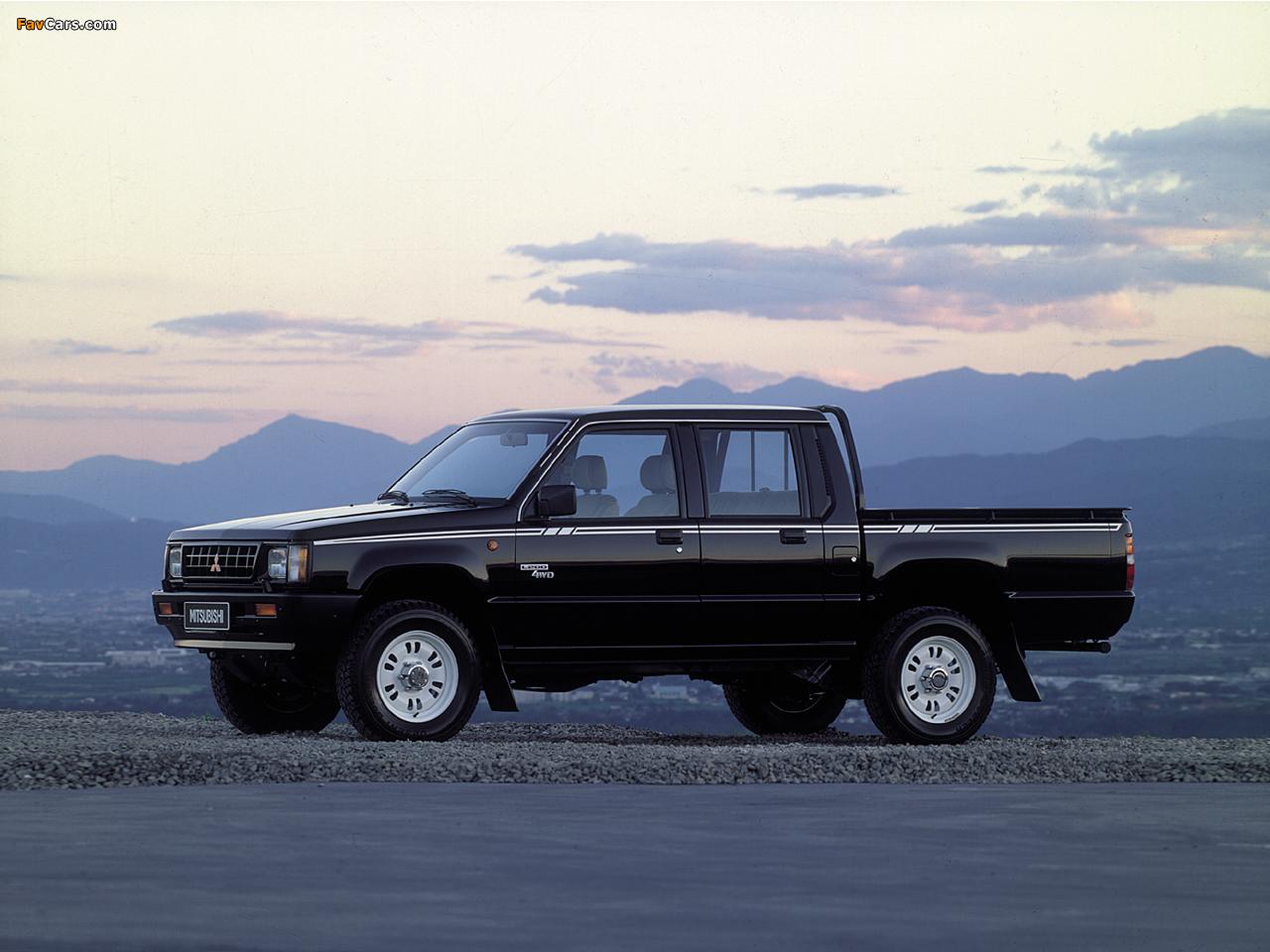 Mitsubishi L200 Double Cab 4WD 1986–96 images (1280 x 960)