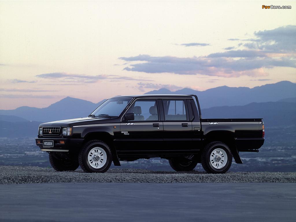 Mitsubishi L200 Double Cab 4WD 1986–96 images (1024 x 768)