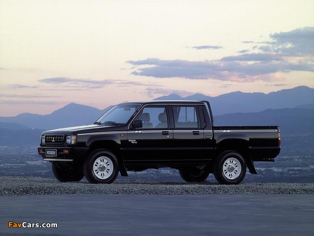 Mitsubishi L200 Double Cab 4WD 1986–96 images (640 x 480)
