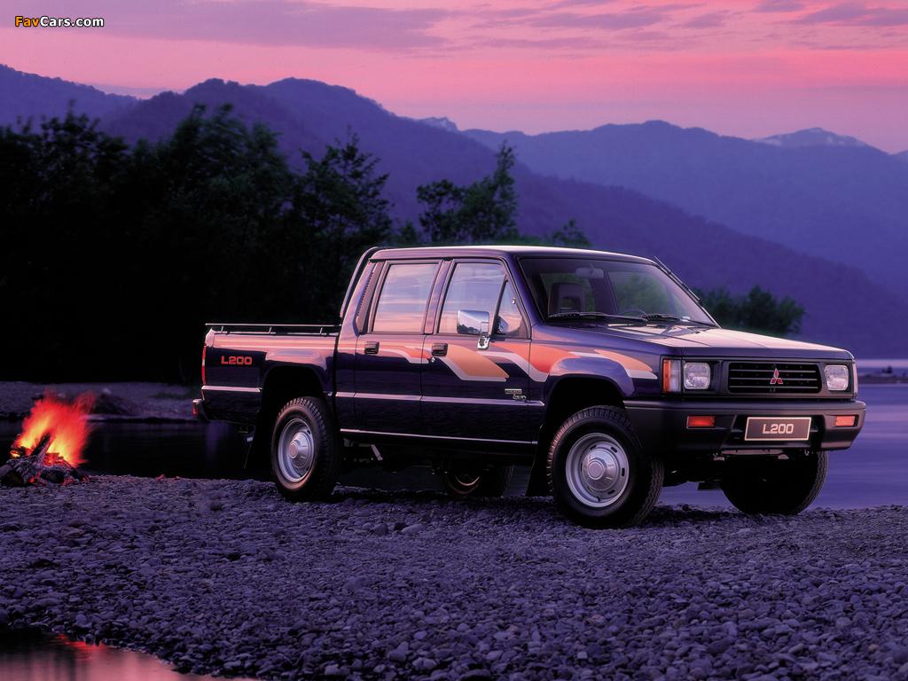 Mitsubishi L200 Double Cab 4WD 1986–96 photos (1024 x 768)